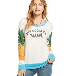 Chaser Pina Colada Mama Long Sleeve Top